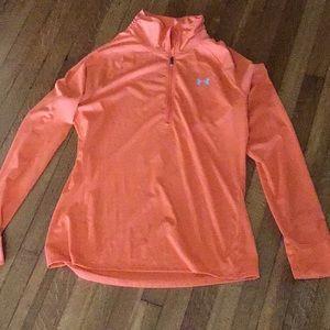 Bright Orange UA Pullover, Size Large